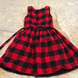 Carters Girl Buffalo Plaid Dress Christmas Holiday